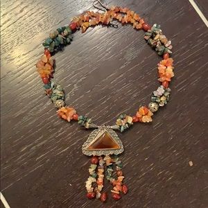 High Glass Hillbilly Jewelry - Natural Stone Beaded Necklace